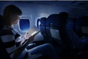 reading on airplane, reader class